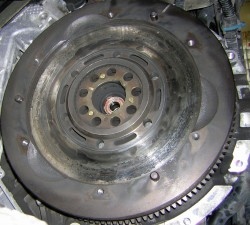 Porsche overheated flywheel